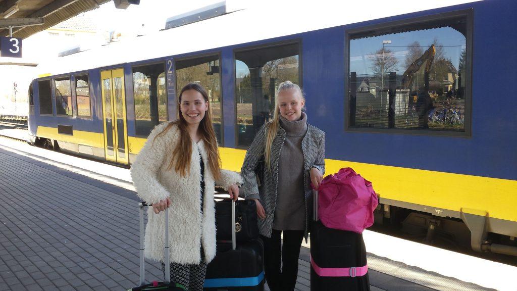 Ankunft: Emilia und Essie in Sande