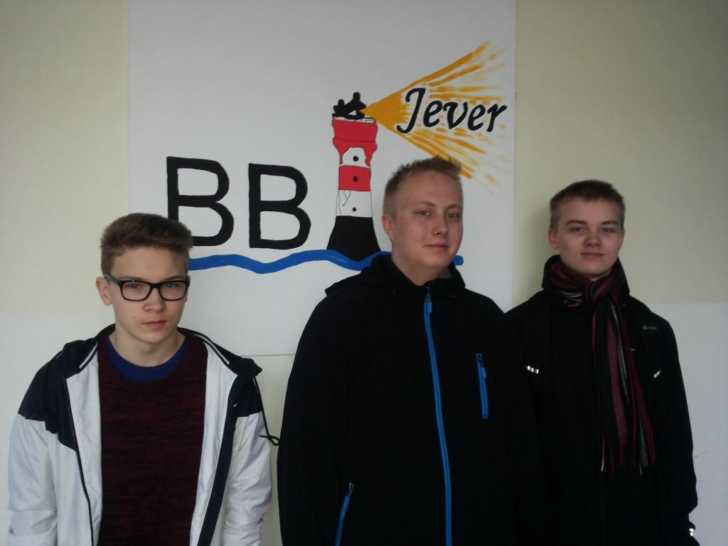 Joni, Joona und Riku an BBS Jever