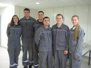 Von links: Patricia Moya Orive, Esteban Castellvi Laborda, Nicolas Fernandez Dahms, Christian Pamin, Jonas Fronek, Rieke Günther