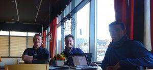 Auswertungs- und Planungsgespräch am Ende des Besuches im Hotel in Jyväskylä