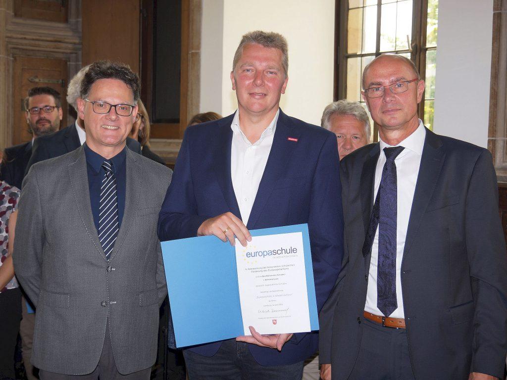 Verleihung Europaschule in Niedersachsen BBS Wilhelmshaven